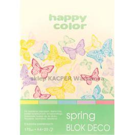 Blok deco techniczny A4/170g HAPPY COLOR spring