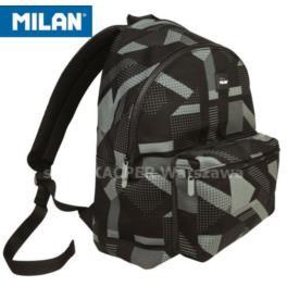 Plecak młodzieżowy 21l MILAN Knit czarny