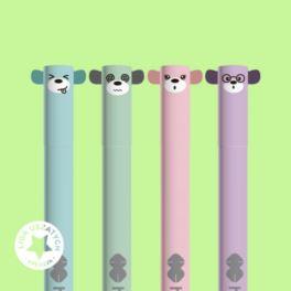 Długopis ścieralny 0,5mm HAPPY COLOR uszaki pastel