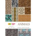 Blok z motywami Animals A4/80g  HAPPY COLOR