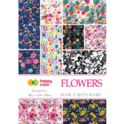 Blok z motywami Flowers A4/80g  HAPPY COLOR