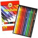 Kredki PROGRESSO 12 kolorów