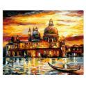 Malowanie po numerach z farbami 40x50cm Wenecja