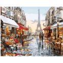 Malowanie po numerach z farbami 40x50cm Paryż