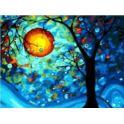 Malowanie po numerach z farbami 30x40cm Drzewo