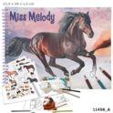 Kolorowanka na spirali MISS MELODY horse naklejki