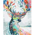 Malowanie po numerach z farbami 40x50cm Jeleń bajk
