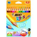 Kredki 12kol. Evolution Triangle BIC KIDS