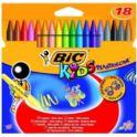 Kredki świecowe BIC KIDS Plastidecor 18 kol. 2+